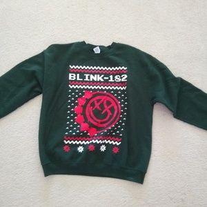 Blink 182 ugly Christmas sweatshirt